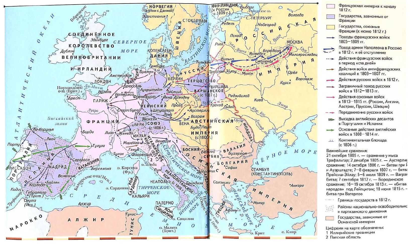 Об эпохе Наполеона Бонапарта Новая история Реферат доклад  Европа в годы завоевательных войн Наполеона Отечественная война 1812 г