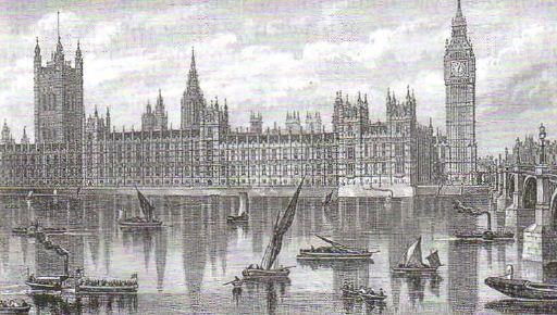 Реформы Великобритании в xix веке Новая история Реферат доклад  Здание парламента в Лондоне Гравюра xix в