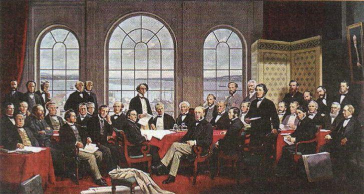 Канада как доминион Англии колония Британской империи Новая  Р Харрис Официальный портрет основателей доминиона