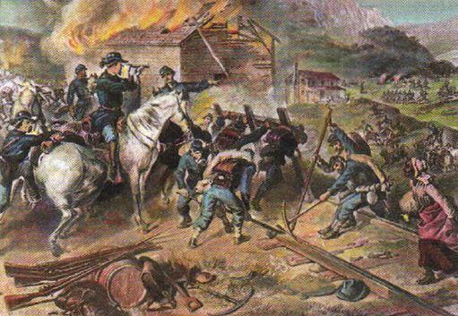 Гражданская война в США годов Новая история Реферат  Генерал У Шерман во время своего марша к морю Литография xix в