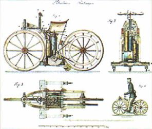 Развитие транспорта в начале века Новая история Реферат  Первый в мире мотоцикл конструкции Г Даймлера и В Мейбаха