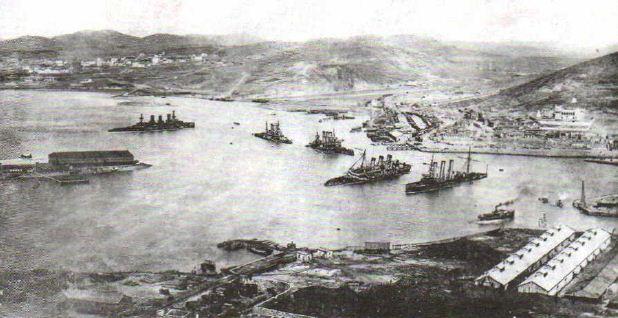 Русско японская война годов Новая история Реферат  Гавань Порт Артура Фото 1905 г