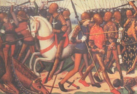 Столетняя война годы История Средних веков Реферат  Битва при Азенкуре
