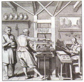 Развитие науки в Раннее Новое время век Новая история  Печатный пресс в Нидерландах