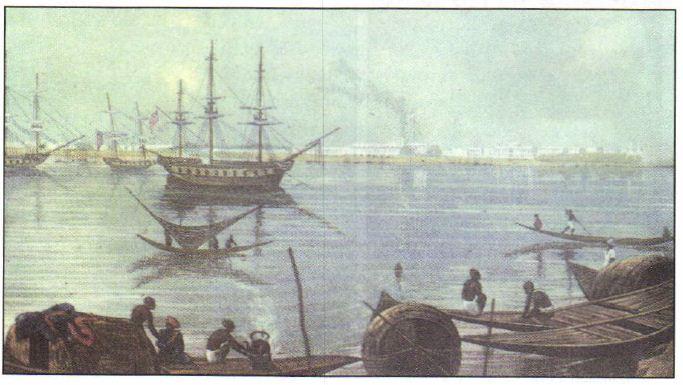 Завоевание Индии в веке Новая история Реферат доклад  Город Калькутта в индийской Бенгалии главный порт английской Ост Индской компании