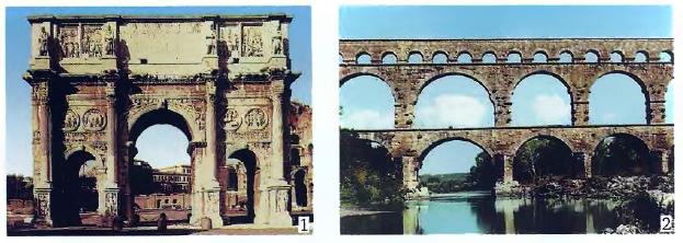 Дворцы особняки многоэтажные дома Рима История Древнего мира  1 Триумфальная арка Константина Современное фото 2 Римский акведук в Галлии Современное фото